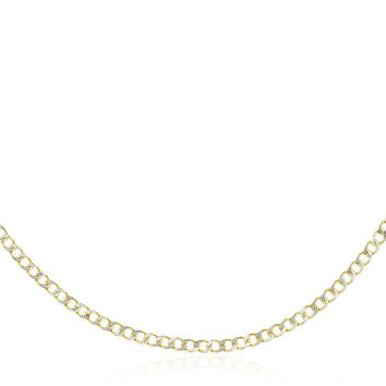 10K Yellow Gold 2.4mm - 8mm Pave Cuban Link Chain 16-30inch