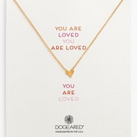 Women's Dogeared 'Reminder - You Are Loved' Heart Pendant Necklace