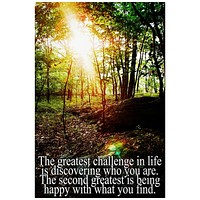 Life Greatest Challenge Inspirational Quote Rolled Canvas Wall Art