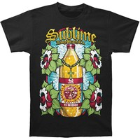 Sublime Men's  40 Oz Bottle Mens Soft T Slim Fit T-shirt Black