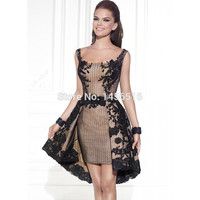 2017 New Arrival Special occasion A line Knee length short lace appliques cocktail dress party