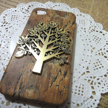 Life TREE wooden pattern iPhone Case fits for iPhone 4 Case, iPhone 4s Case, iPhone 4 Hard Case, iPhone Case