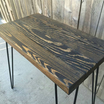 TallBoy jacobean side table,  end table, night stand, reclaimed wood, coffee table, pallet wood, hand crafted, wooden table,