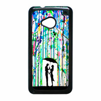 Love Song Romantic In The Rain Paint HTC One M7 Case