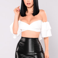 Sara May Off Shoulder Top - Off White