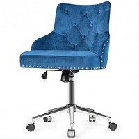 Tufted Nailed Trim Swivel Desk Chair
