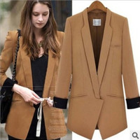 Fashion Autumn Women Long Sleeve Business Casual Suit Outerwear Jacket a13039