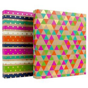 """Greenroom™ 1"""" Ring Binder with Hard Cover - Multicolor"""