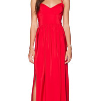 Amanda Uprichard Slit Gown in Red