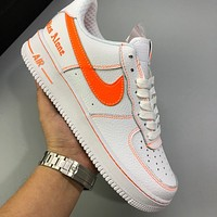 Nike Air Force 1 simple solid color men's and women's sneakers shoes