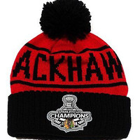 "Chicago Blackhawks 2015 Mitchell & Ness ""2010 Stanley Cup Champs"" Knit Beanie"