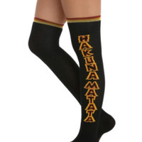 Disney The Lion King Hakuna Matata Over-The-Knee Socks