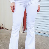 Stayin' Alive Jeans: White