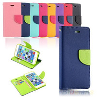 Leather Wallet Gel Punch Case Cover for iPhone 6  iPhone 6 Plus = 1932086020