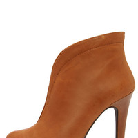 Jessica Simpson Allest Burnt Umber Leather High Back Booties