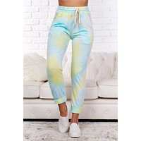Giving In Tie Dye Joggers (Blue Lime Combo)