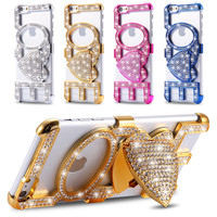 Fashion Bling Diamond Love Phone Case For Apple Iphone 6 6S 4.7 for 6 plus 6S plus 5.5
