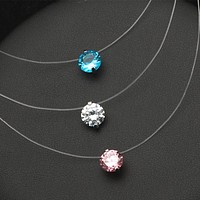 Invisible Line Choker Necklace Women