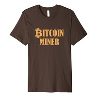 Vintage Bitcoin Miner Crypto Currency Trader T Shirt