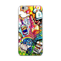 Cool Trippy Smokers Paradise Art Collage iPhone 4 4s 5 5s 5C 6 6s 6 Plus 6s Plus 7 & 7 Plus Case