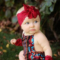 Lace Bow Flower Knot Headbands
