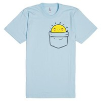 Pocket Full Of Sunshine-Unisex Light Blue T-Shirt