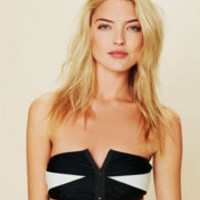 Colorblock Zipper Bandeau at Free People Clothing Boutique
