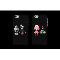 Until Death Do Us Part Skeleton Wedding Couple Phone Cases (Set)