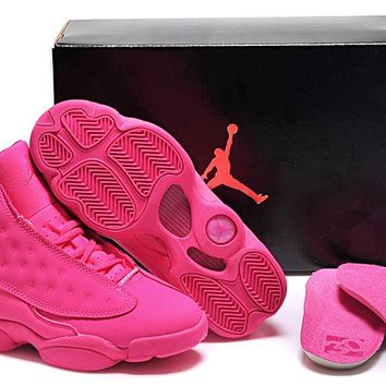 Air Jordan 13 Retro 136064-089 Pink Women Basketball Shoes