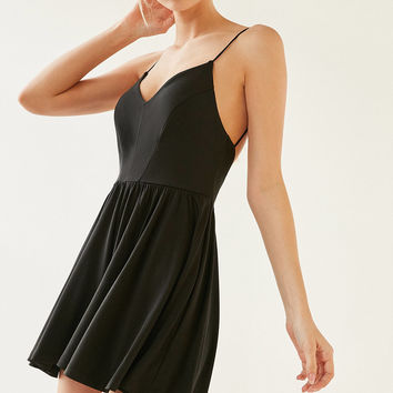 Silence + Noise Bambi Silky Romper   Urban Outfitters