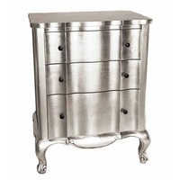 Preedy Silver Leaf 3 Drawer Chest   Sweetpea and Willow