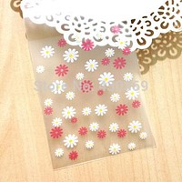 1000pc 8x13(8x10+3)cm Fashion Translucent Scrub Flower Packaging Self Adhesive Bags Plastic OPP Jewelry Gift Cookie Bag Poly Bag