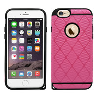 IPhone 6 / 6S Rugged Rubber Protective Case Cover Hot Pink