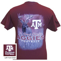 Texas A&M Aggies Gametime Deer Backwoods Unisex Bright T Shirt