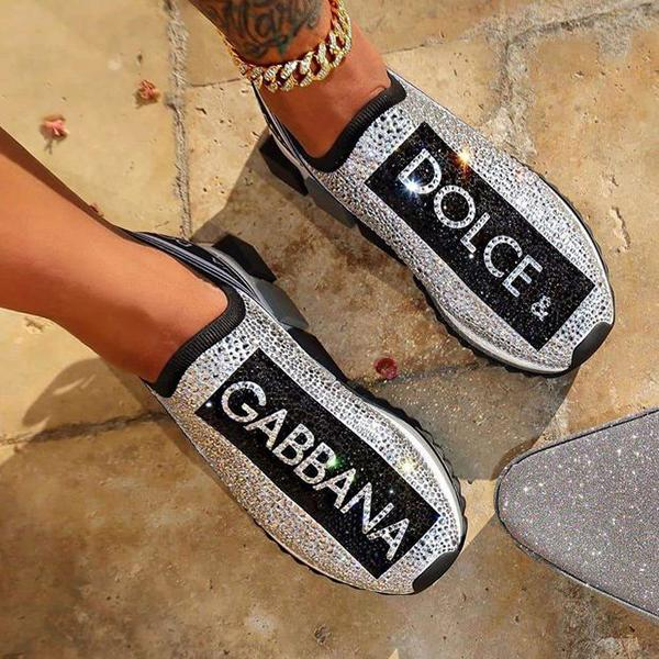 Image of Dolce & Gabbana Crystals Sneakers Sport Shoes