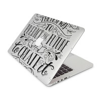 Create It White Background Skin for the Apple MacBook