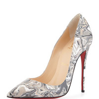 Christian Louboutin So Kate Marbled Red Sole Pump, Black