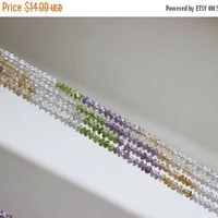 Clearance SALE Multi Gemstone Citrine Peridot Amethyst Faceted Rondelle 4.5mm 60 beads 1/2 strand