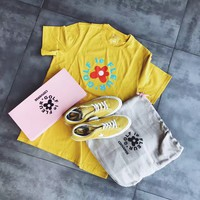 Converse One Star x Golf le Fleur TTC Suede 35-44 Yellow Color