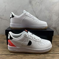 Morechoice Tuhy Nba X Air Force 1 07 Lv8 White Bright Crimson Low Sneakers Casual Skaet Shoes CT2298-101