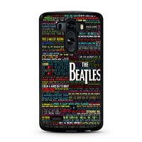 the beatles typography song lyric LG G3 Case