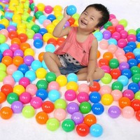 DCCKL72 10PCS Soft Plastic Swim Pool Balls Pit Balls Ocean Wave Ball Baby Funny Toys Stress Air Ball Play Tents Toys PX40