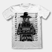 Busted! V for Vendetta or Anonymous Unisex T-Shirt