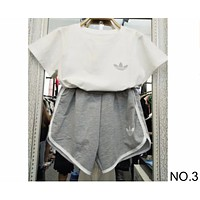 ADIDAS summer sports women's loose breathable sweat-absorbent cotton leisure two-piece NO.3