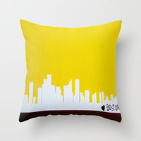 Boston Love Throw Pillow by Michelle Silsbee