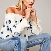 Korakia Top - Crab Embroidered | Stone Cold Fox