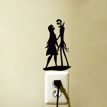 Jack Skellington Fabric Wall Sticker - Jack and Sally Macbook Decal - Nightmare Before Christmas Laptop Sticker- iPhone Sticker