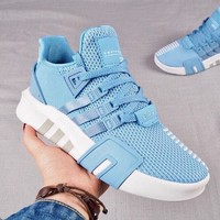 Adidas EQT BASK ADV Breathable Comfortable Couple Running Shoes B-CAXY Blue