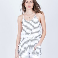 Comfy Striped Romper