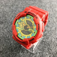 RED G SHOCK Watch Sports +Gift Box